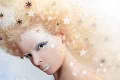 Magisk bild för snö royaltyfri fotografi