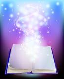 Magisk bok Arkivfoton