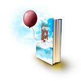 Magisk bok med verkliga berättelser royaltyfri illustrationer