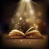 Magisk bokbakgrund Arkivfoto