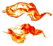 Magisk brännhet brandtändning - brännande röd-apelsin varm flamma - arkivbilder