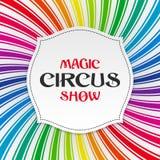 Magisk cirkusshowaffisch, bakgrund Royaltyfria Bilder