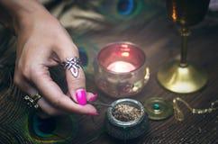 Magisk dryck witchcraft Magisk qure shaman Arkivbilder
