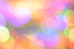 Magisk färgrik ljusbokeh Arkivfoto