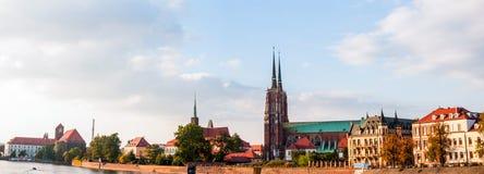 Magisk gammal stad av Wroclaw, Polen Arkivbilder