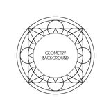 Magisk geometribakgrund för vektor Arkivbilder