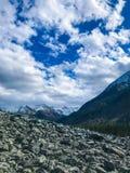 Magisk himmel av Altai berg Ryssland September 2018 royaltyfria bilder