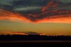 Magisk himmel och moln Arkivfoton