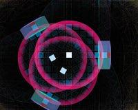 Magisk kurva för modell, härlig vetenskapsfantasikrullning, fractal, energi stock illustrationer