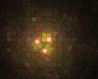 Magisk kurva för modell, vetenskapsfantasikort, härlig mallkrullning, fractal, energi royaltyfri illustrationer