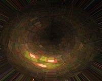 Magisk kurva för modelltextur, fantasikort, härlig mallkrullning, fractal, stilenergi stock illustrationer