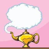 Magisk lampa royaltyfri illustrationer