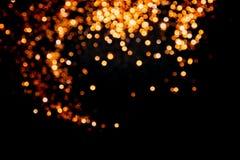 Magisk ljusjulbokeh på svart bakgrund royaltyfria foton