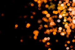 Magisk ljusjulbokeh på svart bakgrund arkivfoto