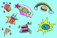 Magisk matuppsättning vektor illustrationer