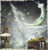 magisk mirakelnighttime stock illustrationer