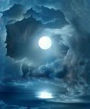 magisk moon Fotografering för Bildbyråer