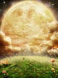 magisk moon Royaltyfria Foton