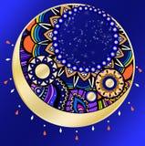Magisk natt indisk prydnadmåne Arkivfoton
