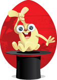 Magisk påsk Bunny Vector Cartoon Royaltyfria Bilder