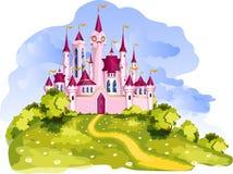 Magisk prinsessa Castle royaltyfri illustrationer