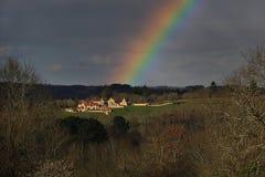 Magisk regnbåge arkivbild