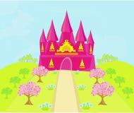 Magisk sagaprinsessa Castle Royaltyfri Foto