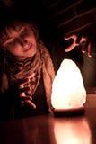 magisk shinekvinna för boll Arkivbild