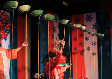 Magisk show på etappen Arkivbild