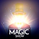 Magisk showbakgrund med den osynliga illusionisten Fotografering för Bildbyråer