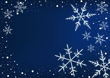 Magisk snöflingavridning och nedgång Royaltyfri Fotografi
