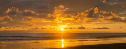 magisk solnedgång Arkivfoto