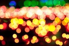 Magisk sparkle, ljusa prickar och bokeheffekt arkivbilder