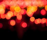 Magisk sparkle, ljusa prickar och bokeheffekt royaltyfria foton