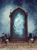 Magisk spegel för fantasi vektor illustrationer