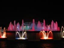 Magisk springbrunn av Barcelona Royaltyfri Foto