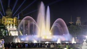 Magisk springbrunn Barcelona arkivbild