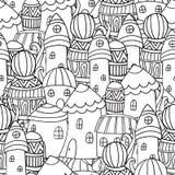 Magisk stad royaltyfri illustrationer