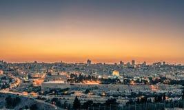 Magisk timme i Jerusalem Arkivbild