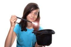magisk tonårs- wand för flickahatt Arkivbild