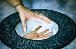magisk touch Arkivbilder
