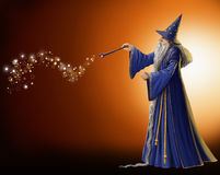 Magisk trollkarl Arkivfoto