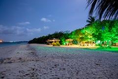 Magisk tropisk Maldiverna natt royaltyfria foton