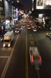 Magisk upptagen gata i Taiwan Royaltyfri Fotografi