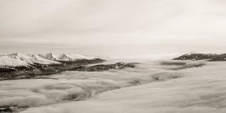 Magisk vinter i Lungau, Speiereck, fjällängar fotografering för bildbyråer