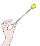 magisk wand vektor illustrationer