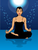 magisk yoga Royaltyfria Bilder