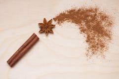 Magiska aromatiska kryddor för sund och smaksatt mat Royaltyfri Foto