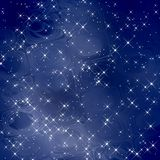 Magiska bakgrundsbluescales/stjärnor Royaltyfri Fotografi