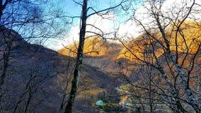 Magiska berg Arkivfoto